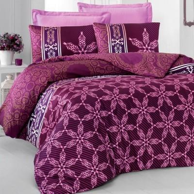 Комплект постельного белья сатин-жаккард «Alisa» евро | сирень | Victoria