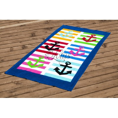 Полотенце пляжное велюр «Marine» 75*150 | Lotus