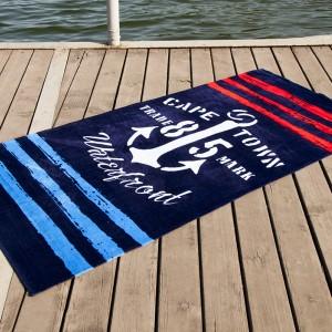 Полотенце пляжное велюр «Waterfront» синий 75*150 | Lotus