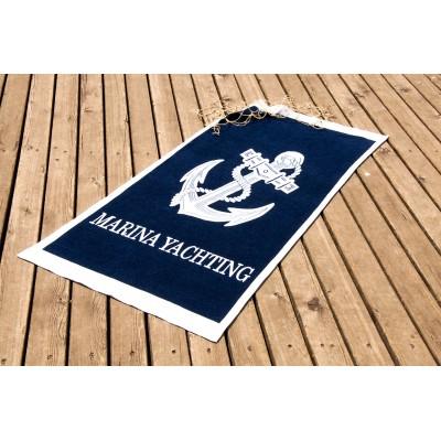 Полотенце пляжное велюр «Yachting» 75*150 | Lotus