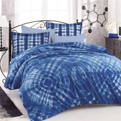 Комплект постельного белья поплин «Batik Egzotik» синий | Hobby