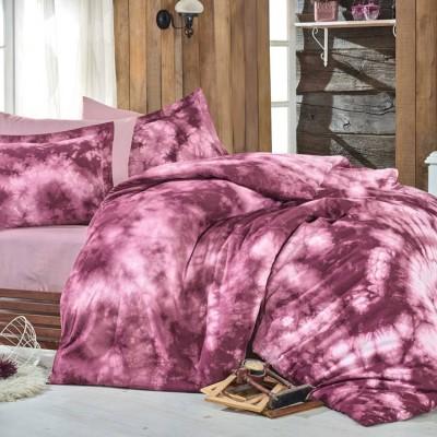 Комплект постельного белья поплин «Batik Gizem» бордовый | Hobby