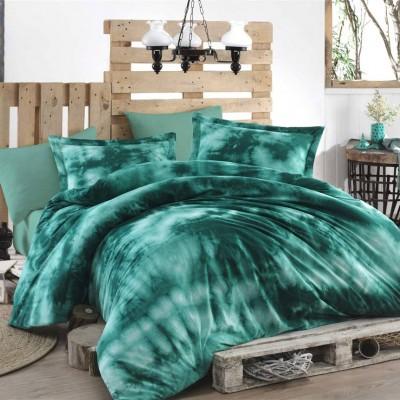 Комплект постельного белья поплин «Batik Gizem» зеленый | Hobby